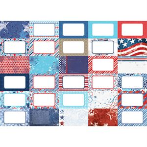 Picture of Pocket Red, White, and Beautiful Journal Cards by Katie Pertiet- Set 30